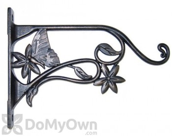 Panacea Cast Aluminum Bracket with Brushed Bronze Butterfly For Bird Feeders 9 in. (85640)