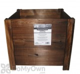 Pennington Dark Flame Wood Square Planter Box 16 in.