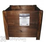 Pennington Dark Flame Wood Square Planter Box 16 in.