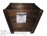Pennington Dark Flame Wood Tapered Planter 16 in.