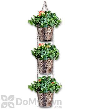 Pennington 3 Pot Hammered Metal Vertical Gardening Kit