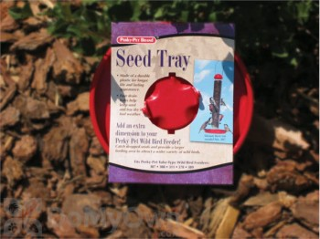 Perky Pet Red Seed Tray for Bird Feeders 2.7 oz. (301)