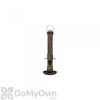 PineBush Metal Tube Bird Feeder with Tray Antique Copper 18 in. (PINE07005)