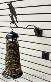 PineBush Single Metal Hanger with Peg Slatwall Bracket for Bird Feeders 7 in. (07696)