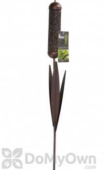 PineBush Cattail Stake Peanut and Black Oil Bird Feeder (10778)