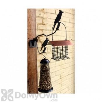 PineBush Double Metal Hanger with Screw on Bracket For Bird Feeders (PINE07695)
