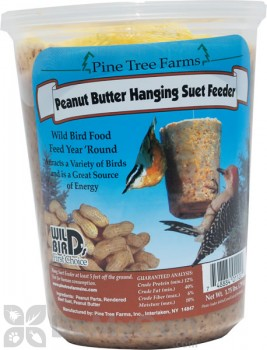 Pine Tree Farms Peanut Butter Hanging Suet Feeder 1.75 lb. (1120)