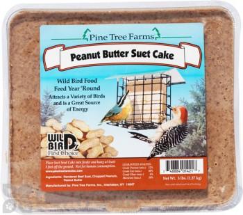 Pine Tree Farms Peanut Butter Suet Cake Bird Food 3 lb. (1421)
