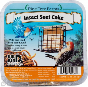 Pine Tree Farms Insect Suet Cake Bird Food 12 oz. (1470)