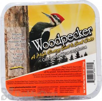 Pine Tree Farms Woodpecker Hi Energy Suet Cake Bird Food 11 oz. (6011)