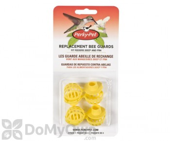 Perky Pet Bee Guards Replacements for Bird Feeders 4 pc. (205Y)