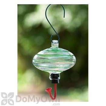 Rainbow Gardman Oval with Green Swirl Hummingbird Feeder (05701)
