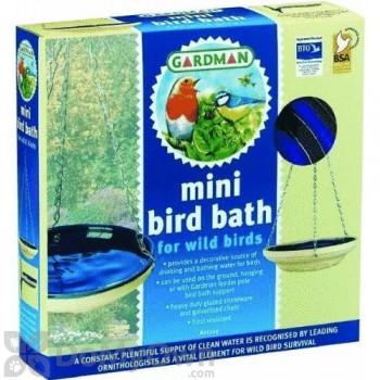 Rainbow Gardman Blue Mini Glazed Bird Bath (BA01124)