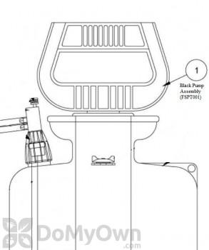Black Pump Assembly for Foamer Simpson (FSPT001)