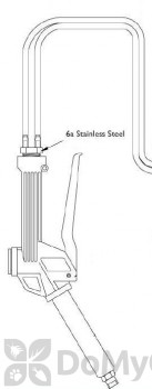Stainless Steel Double Hose Barb with Clamps for Foamer Simpson (part #6a) (FSPT06a)