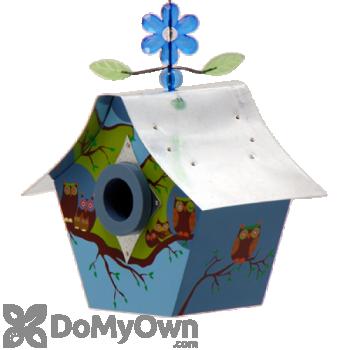 Rossos International Retro Chic Owl Family  Bird House (WS22)