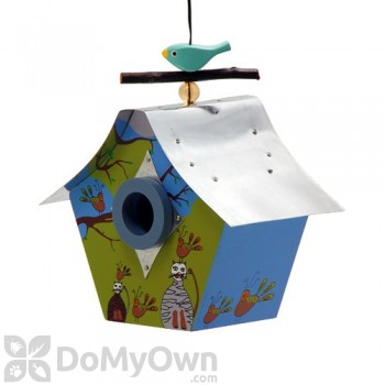 Rossos International Retro Chic Here Kitty Kitty Bird House (WS38)