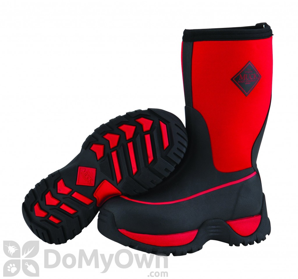 Boots Kids Rugged Red and Black Boot