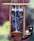 Schrodt Bamboo Grove Teahouse Bird Feeder 12 in. (PBBSTH12B)