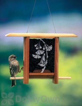 Schrodt Gingko Leaves Teahouse Bird Feeder 7 in. (PBBSTH7G)