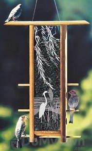 Schrodt Heron Willows Teahouse Bird Feeder 16 in. (TH16HW)