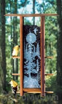 Schrodt Tranquil Forest Teahouse Bird Feeder 16 in. (TH16TF)