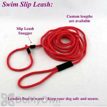 Soft Lines Floating Dog Swim Slip Leashes - 1 / 2\'\' Diameter x 40 Foot