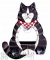 Songbird Essentials Black & White Cat Body Window Bird Feeder (SE3870202)