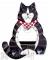 Songbird Essentials Black & White Cat Body Window Bird Feeder (SE3870202)