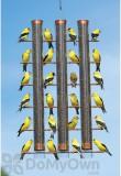 Songbird Essentials Finches Favorite Copper 3 Tube Bird Feeder (SE324C)