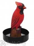 Songbird Essentials Sitting Cardinal Round Metal Tray Bird Feeder (SE3870223)
