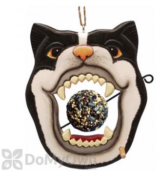 Songbird Essentials Black & White Cat Face Fruit or Birdseed Ball Bird Feeder (SE3870227)