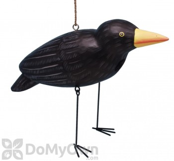 Songbird Essentials Crow with Dangling Metal Legs Bird House (SE3880027)