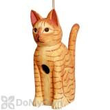Songbird Essentials Sitting Orange Tabby Cat Bird House (SE3880124)