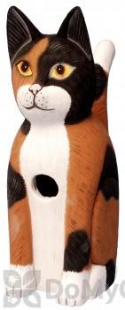 Songbird Essentials Sitting Calico Cat Bird House (SE3880151)