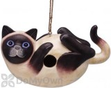 Songbird Essentials Siamese Cat on Back Bird House 7 in. (SE3880195)