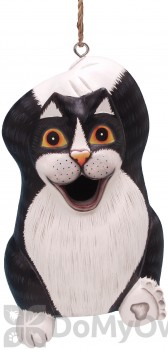 Songbird Essentials Black and White Chillin Cat Bird House (SE3880196)