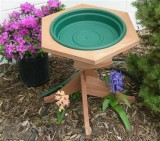 Songbird Essentials Green  Mini Garden Bird Bath (SE507)
