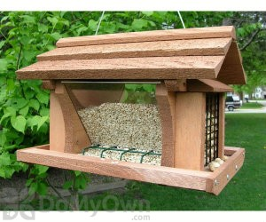 Songbird Essentials Bird Feeder with Suet Basket 14 in. (SE513)