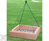 Songbird Essentials Hanging Tray Bird Feeder 12 x 12 in. (SE532)