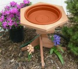 Songbird Essentials Mini Clay Tray Garden Bird Bath (SE573)