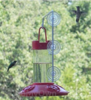 Songbird Essentials Dr. JB All Red Hummingbird Feeder with Hanger 16 oz. (SE6002W)