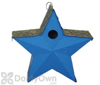 Songbird Essentials Blue Country Star Bird House (SE917)