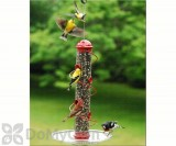 Songbird Essentials Red Spiral Sunflower Seed Bird Feeder 17 in. (SEBQSBF3R)