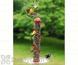 Songbird Essentials Red Spiral Sunflower Seed Bird Feeder 17 in. (SEBQSBF3R)