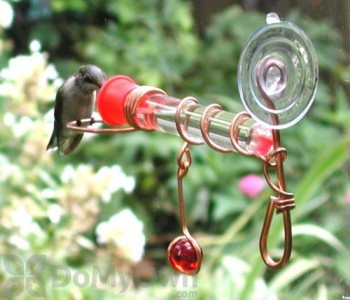 Songbird Essentials Window Wonder One Tube Hummingbird Feeder (SEHHWWH1)