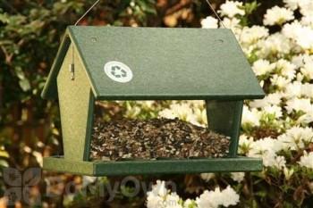Songbird Essentials Hunter Driftwood Hopper Bird Feeder 4 qt. (SERUBHF100HD)
