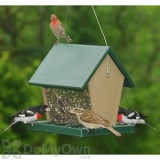 Songbird Essentials Recycled Plastic Large Hopper Bird Feeder 2.5 qt. (SERUBHF75)