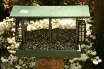 Songbird Essentials Large Hunter Driftwood Double Hopper Bird Feeder (SERUBLDH500HD)