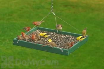 Songbird Essentials Large Hanging Platform Bird Feeder (SERUBSPF400H)